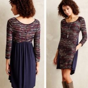 Anthropologie Maeve boucle mixed media dress